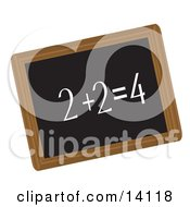 Simple Math Equation Written In Chalk On A Blackboard School Clipart Illustration