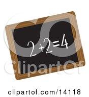 Simple Math Equation Written In Chalk On A Blackboard