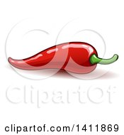 Clipart Of A Spicy Hot Red Chili Pepper Royalty Free Vector Illustration by yayayoyo