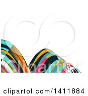 Clipart Of A Background Or Business Card Design With Colorful Waves Royalty Free Vector Illustration by KJ Pargeter