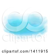 Clipart Of A Blue Watercolor Background On White Royalty Free Vector Illustration