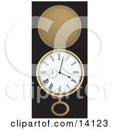 Open Silver Pocket Watch Showing A Few Minutes Past Four Clipart Illustration