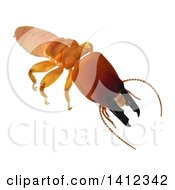 Clipart Of A 3d Termite Soldier From The Front Royalty Free Illustration by Leo Blanchette