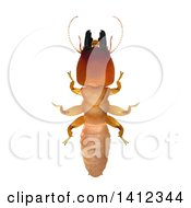 Clipart Of A 3d Termite Soldier From Above Royalty Free Illustration by Leo Blanchette