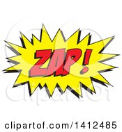Clipart Of A ZAP Comic Sound Balloon Royalty Free Vector Illustration