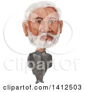 Clipart Of A Watercolor Caricature Of Narendra Damodardas Modi The 14th Prime Minister Of India Royalty Free Vector Illustration