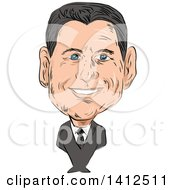 Clipart Of A Sketched Caricature Of Paul Davis Ryan Speaker Of The US House Of Representatives And Republican Party Senator Royalty Free Vector Illustration by patrimonio