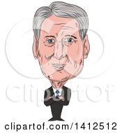 Clipart Of A Sketched Caricature Of Philip Anthony Hammond PC MP British Conservative Politician And Chancellor Of The Exchequer Royalty Free Vector Illustration by patrimonio