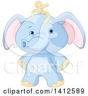 Poster, Art Print Of Cute Blue Baby Elephant