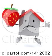 3d White Home Character On A White Background