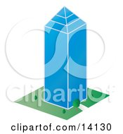Glass Skycraper Building In A City Clipart Illustration