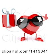 Clipart Of A 3d Love Heart Character On A White Background Royalty Free Illustration