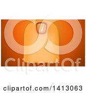 Clipart Of A 3d Scale On An Orange Background Royalty Free Illustration