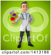 Clipart Of A 3d Young White Male Doctor Royalty Free Illustration
