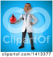 Clipart Of A 3d Young Black Male Doctor Royalty Free Illustration