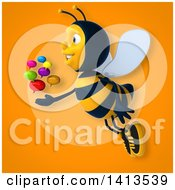Clipart Of A 3d Male Bee Royalty Free Illustration by Julos
