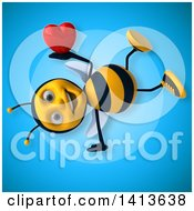 Clipart Of A 3d Male Bee Royalty Free Illustration