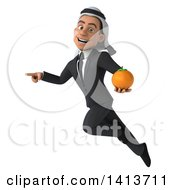 Clipart Of A 3d Arabian Business Man On A White Background Royalty Free Illustration by Julos