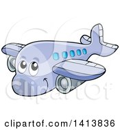 Clipart Of A Cartoon Happy Airplane Character Royalty Free Vector Illustration