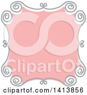 Retro Pink And Gray Frame Design Element
