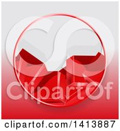 Clipart Of A Circle With 3d Red Cubes On Gradient Royalty Free Vector Illustration by elaineitalia