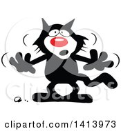 Cartoon Superstition Black Cat