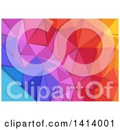 Clipart Of A Background Of Gradient Colorful Geometric Pyramids Royalty Free Vector Illustration by dero