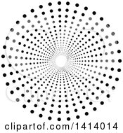 Clipart Of A Black Halftone Dot Vortex Tunnel Royalty Free Vector Illustration by dero