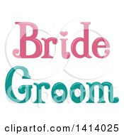 Pink And Green Wedding Bride And Groom Designs