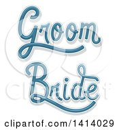 Blue Wedding Bride And Groom Designs