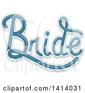 Blue Wedding Bride Design