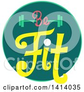 Be Fit Barbell Fitness Icon