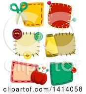 Clipart Of Sewing Patch Designs Royalty Free Vector Illustration by BNP Design Studio