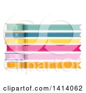 Clipart Of Colorful Spools Of Ribbons Royalty Free Vector Illustration