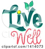 Clipart Of A Live Well Design With Leaves Royalty Free Vector Illustration