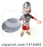 Clipart Of A 3d Young Male Roman Legionary Soldier On A White Background Royalty Free Illustration