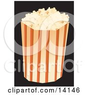 Bag Of Movie Popcorn Food Clipart Illustration