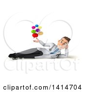 Clipart Of A 3d Young White Male Doctor On A White Background Royalty Free Illustration