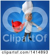 Clipart Of A 3d Young Black Male Chef Royalty Free Illustration