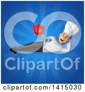 Clipart Of A 3d Young White Male Chef Royalty Free Illustration