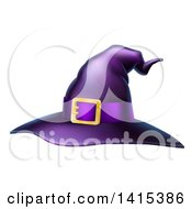 Clipart Of A Purple Witch Hat Royalty Free Vector Illustration by AtStockIllustration