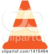 Clipart Of A Traffic Cone Royalty Free Vector Illustration by visekart