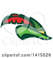 Clipart Of A Retro Plumed Robin Hood Hat Royalty Free Vector Illustration