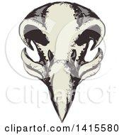 Poster, Art Print Of Retro Styled Eagle Skull
