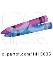 Purple And Blue Crayons