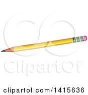 Clipart Of A Sharpened Yellow Pencil Royalty Free Vector Illustration by Pushkin