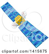 Clipart Of A Communications Satellite In Orbit Royalty Free Vector Illustration by merlinul
