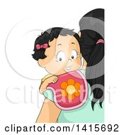 Clipart Of A Baby Girl Being Burped By Mom Royalty Free Vector Illustration