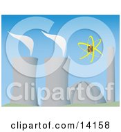 Cooling Towers Evaporating At A Power Plant Clipart Illustration by Rasmussen Images #COLLC14158-0030