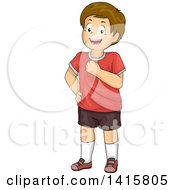Clipart Of A Happy Caucasian Boy Smiling With Confidence Royalty Free Vector Illustration by BNP Design Studio